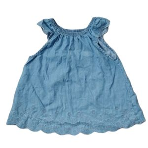 Baby B'gosh Long Jean Top with Capped Sleeves, 5T